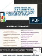 Framework. scope and trends in nursing practice