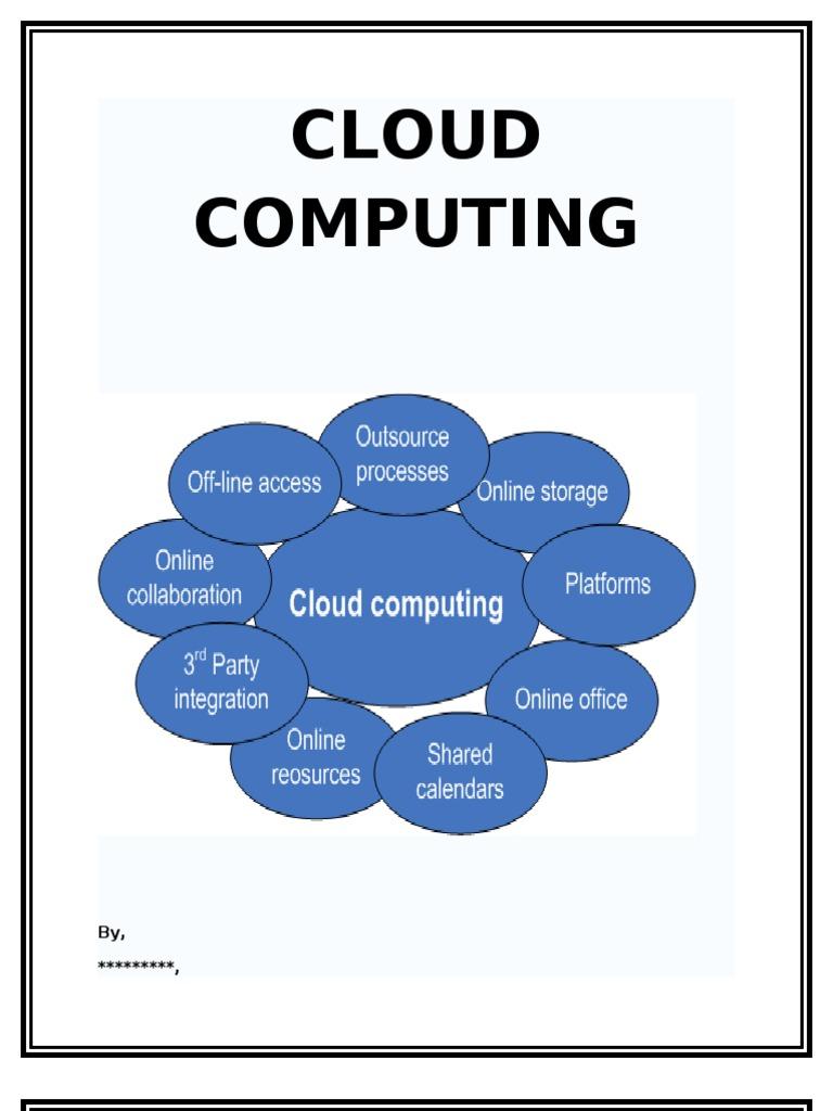 Cloud Computing Essay  Cloud Computing  Software As A Service