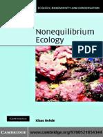 Nonequilibrium Ecology Klaus Rohde