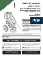 RYOBI RY80544 manual
