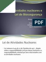 Lei de Atividades Nucleares e Lei de Biossegurança