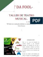 CALEMBUR ES DANZA AEREA Taller de Teatro Musical (Plan de Estudios)