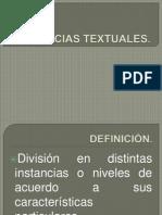 INSTANCIAS TEXTUALES