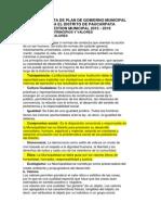 Propuesta de Plan de Gobierno Municipal Paucarpata Justo Mayta - Fuerza Arequipeña 2015