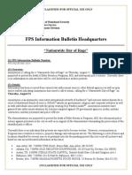US Dept of Homeland Security Bulletin
