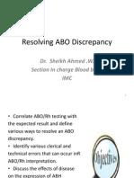 Resolving ABO Discrepancy