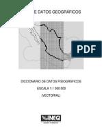 INEGI 2000 Diccionario de Datos Fisiograficos