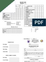 Report Card - Grades 1-3