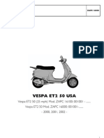 Vespa ET2 Parts Manual