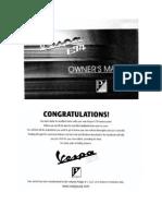 Vespa ET4 Owners Manual