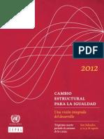 Cambio Estructural Para Igualdad