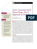 Acute Gastrointestinal Hemorrhage,PArt 1 Approach to Patients