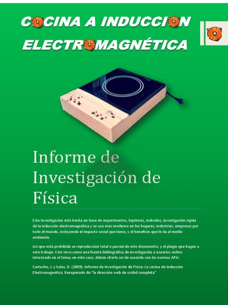 La cocina de inducci n electromagn tica for Cocina de investigacion