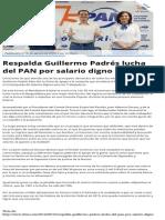 16-08-2014 Respalda Guillermo Padrés lucha del PAN por salario digno.