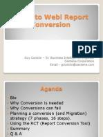 Deski to Webi Conversion Presentation