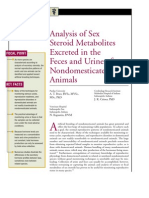 Analysis of Sex Steroid Metabolites Excreted in the Feces and Urine of Non Domesticated Animals