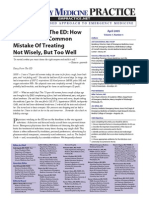 Antibiotics in the ED How to Avoid the Common Mistake of Treating Not Wisely, But Too Well