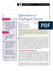 Approaches to Esophageal Sutures