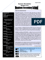 Pitt Meadows Secondary Newsletter - 20 Aug. 2014