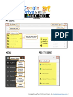 The Google Drive for iOS Cheat Sheet