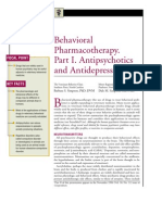 Behavioral Pharmocotheraphy.part I.antipsychotics and Antidepressants