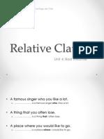 Unit 4 - Relative Clauses
