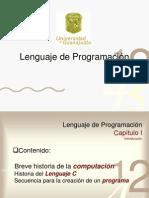 Lenguaje de Programación CAPITULO I