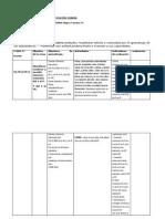 planificacion de matematicas 1°y 2° 2014