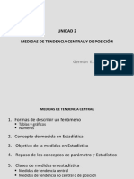 Unidad 2 Medidas de Tendencia Central