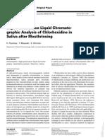 Clorexidina Em Saliva HPLC