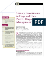 C+F-Urinary Incontinence in Dogs and Cats.part II. Diagnosis and Management