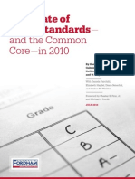 Fordham Institute's 2010 Comparison of State Standards to Common Core