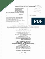 Pack v. State Respondents Response Regarding Constitutionality of HB3399-Wyrick Response to Appl to Assume Orig Juris