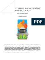 SUSTAINABILITY ACROSS HUMAN, NATIONAL AND GLOBAL SCALES