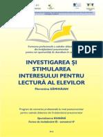 Romana - 4 - Investigarea Si Stimularea Interesului Opti