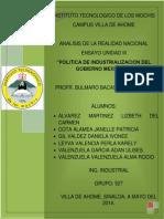 Política de Industrialización Del Gobierno Mexicano
