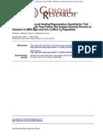Identification of Wound Healing-Regeneration