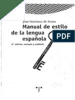 Martinez de Sousa Jose - Manual de Estilo de La Lengua Española