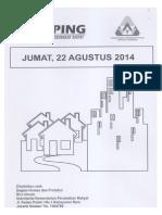 Scan Kliping Berita Perumahan Rakyat, 22 Agustus 2014