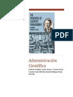 Administración Científica Material para los grupos.