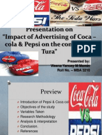Impact of Ad of Coke & Pepsi