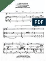 133678501 Phantom of the Opera Masquerade Sheet Music for Piano