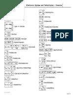 Esat - Formulas