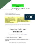 Lineas Coaxiales Para Transmisión