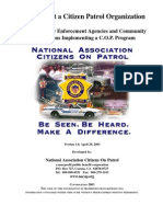How to Start Citizen Patrol Program
