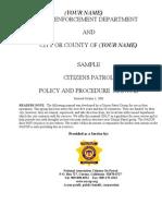 Sample Policy Procedure Manual