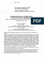 Iupac-guidelines for Calibration in Analytical Chemistry
