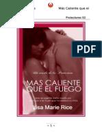 Mas Caliente Que El Fuego (Protectores 2) - Lisa Marie Rice