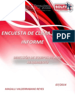Informe de Encuesta de Clima Laboral Solfi
