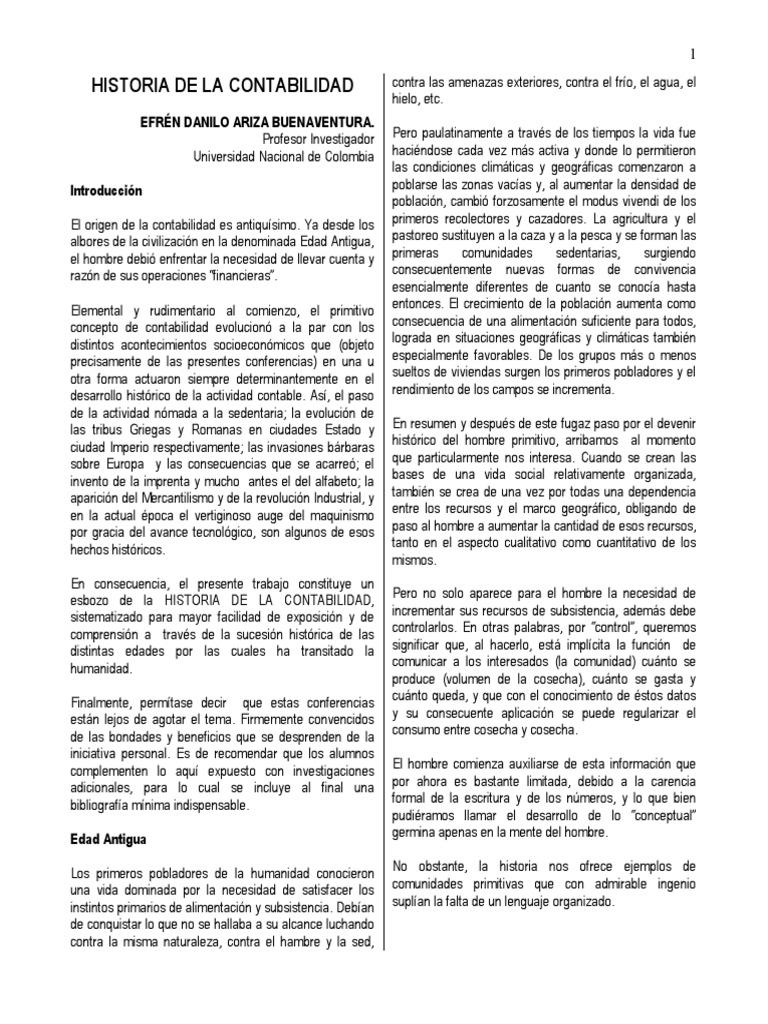 PDF - Historia de La Contabilidad - Danilo Ariza